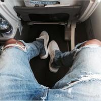 Wholesale Blue Linen Pants - Famous Brand Designer KANYE Justin Bieber Men Jeans Fear Of God Ripped Jeans Blue Rock Star Mens Jumpsuit Designer Denim Male Pants J03