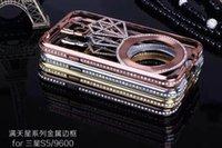 Wholesale Iphone Covers Aluminium Chrome - CH For iphone 6 Plus 5 5S Luxury Diamond Bling Rhinestone Bumper Aluminium Metal Hard Chrome Frame Case Cover For iphone 6 4.7 5.5 inch