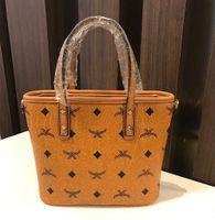 Wholesale Mini Bucket Color - Brand Designer Women Totes Brown Color Genuine Leather Handbag Mini Shopping Bag 22X17X8cm Shoulder Bag