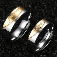 Wholesale Couple Forever - New Arrival Luxurious titanium steel forever love Couples rings fashion ring for lovers Factory direct sale