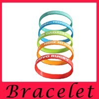 Wholesale Custom Rubber Silicone Bracelets Personalized - Personalized custom silicone bracelet silicone wrist strap made motion recognition lettering printing Euramerican wrist band silicon rubber