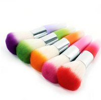 Wholesale Nail Art Dust Remover - 2016 New Fashion MakeUp Tool Powder Remover Nail Art Cleaner Nail Dust Blush Foundation Colorful Brush