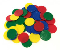 Wholesale Counting Chips - Colorful Counting Chips 25mm Opaque Plastic Board Game Counters Tiddly winks Numeracy Teaching Plastic Gaming Tokens Learning Resources