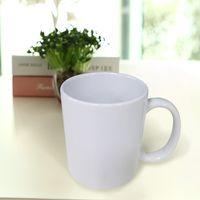 Wholesale Fruit Coffee Mugs - Classic White Ceramic Mugs Coffee Mugs Milk Fruit Juice Custom Container Simple Gifts High Quality Ceramic Cups