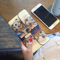 Wholesale Leather Large Purse - 2017 European Luxury Famous Brand Women Wallets Genuine Leather Purse Drawstring Large Capacity Credit Card Holders Cellphone Bag CR77