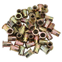 Wholesale Flat Head Nuts - M10 Flat Head Galvanization Rivet Nut for Instruments Accessories package Of 50