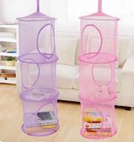 prateleiras para crianças venda por atacado-Chegam novas Prateleira De Armazenamento De Suspensão Net Crianças Brinquedo Organizador Saco de Parede Porta Do Armário