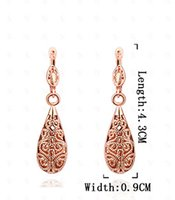 20pcs Rose Gold Earrings Stud Fashion Creative Drop brincos Acessórios Fabricantes Fornecedores Cheap Very High quality Jewelry hot for Women