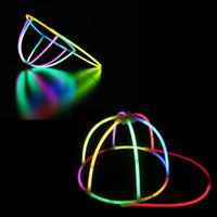 Wholesale Night Performance - Glow Sticks Cap Fluorescent Glow Luminous Hat Night Light Sticks Christmas Party Concert Supplies Stage Performance Props OOA2513