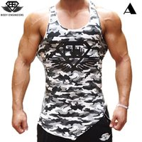 Wholesale Elastic Body Shirt - Gym Body Engineers 2017 Men Bodybuilding Fitness Vest 3d Sleeveless T-shirt Aesthetic Sweat Breathable Elastic Dry Tank Tops Vest