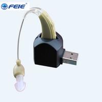 dijital mini işitme cihazı toptan satış-Yeni GÜÇ mini cihaz sordos kulak amplifikatör yardımcıları yaşlı audifonos para sordos için ucuz dijital işitme cihazları şarj edilebilir s-109