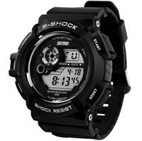 смотреть мужчин оптовых-2016 новый G стиль цифровые часы S шок мужчины военная армия часы водонепроницаемые дата календарь светодиодные спортивные часы relogio masculino