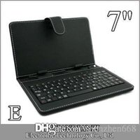 Wholesale red inch tablet bundle online - E OEM Leather Case with Micro USB Interface Keyboard for inch MID Tablet PC A JP
