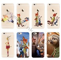 Wholesale Despicable Phone Case Iphone - Cartoon Case Fashion Despicable Zootopia Soft Clear Case Cover For Iphone 5 6 6s plus 7 Crazy Animals City Phone Case
