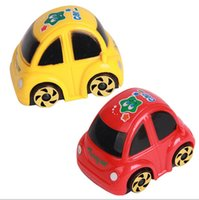 Wholesale Car Race For Kids - 50pcs Wind-up Toys Yellow Red Plastic Wind-up Clockwork Design Racing Car Toy For Kids Children