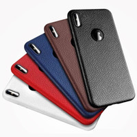 Wholesale Iphone Imitation - For Iphone X Cover Case New Hot Selling TPU luxury Striae Imitation Leather Phone Cover Mobile Cellphone Case For Iphone 7 7plus 8 8plus