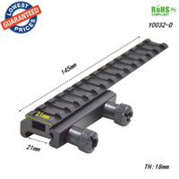 Wholesale Extended Rail - Alonefire Scope Mount Base Flattop Riser Extended long Pour 20mm 21mm picatinny Weaver Rail - 1PC Y0032-D