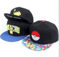 Poke Caps Mon Aménagée Baseball Hats Pocket Monster Pikachu Fashion Winter Hip Hop Flat Snapback Caps Hat à vendre Adulte Hommes Femmes Hot