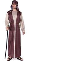 vetement femme achat en gros de-Costume de fête d'Halloween pour les hommes adultes femmes arabe costume de chevalier arabe bandeau prince romain