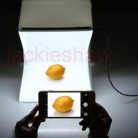 Wholesale Photographic Kit - Portable Mini Kit Photo Photography Studio Light Box Softbox Photographic with Backdrops 226 * 230 * 240 mm photo light tent