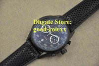 Wholesale Swiss Made Chronograph Men - Wholesale - AAA Men's Chronograph Black Pvd Calibre Dive 36 Watch Mens Flyback Auto Date Watches Men Leather Sports Swiss Made Wristwatches