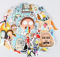 Wholesale Mix Toys - 35PCS SET Rick and Morty Toy Sticker Mix Style Cartoon PVC Sticker 20Sets In Stock Free Shipping!!