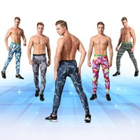 Wholesale Men Tight Leggings - New Men's Sports Apparel Skin Tights Compression Base Layer Pants Camouflage Gym Fitness trousers Running Leggings Cycling Fitness Pants