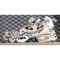 Wholesale Fury Baseball - Hot Sale 2017 Release Boots Insta Pump Fury X Vetements Graffiti Shoes Casual Shoes Running Shoes Original Quality Men Women Size US 5-10