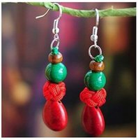 Wholesale tibetan agate beads for sale - Group buy China National Style Agate Tibetan Silver Porcelain Beads Red Coral Wool Balls Pendant Charm Earrings Ethnic Jewelry Birthday Wedding Gifts