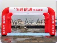 carpa roja inflable al por mayor-Entre en la carpa inflable del arco Tienda de la galería inflable roja y blanca para la publicidad y el logotipo de la publicidad libre