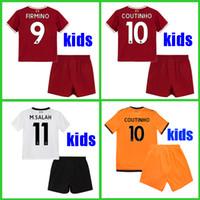 Wholesale Football Gerrard - KIDS soccer jersey 2017 2018 M.Salah Gerrard Firmino Football shirt uniform MANE Coutinho LALLANA Sturridge shirt 17 18 boys youth Children