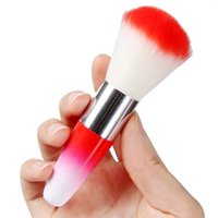 Wholesale UV Nail Gel Powder Nail Dust Brushes Rhinestones Colorful Nail Art Dust Remover Brush Cleaner Makeup Brush Foundation Tool