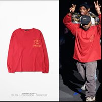 Wholesale Hiphop Shirt Long Sleeves - 2016 Long Sleeve Clothing New Arrival Swag Men's clothing Kanye West I Feel Like Pablo three Season Hiphop T-Shirts