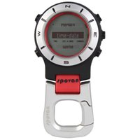 Guter Deal 3ATM Wasserdicht II Multifunktions Outdoor Sports Handheld-Uhr-Barometer Altimeter Thermometer Kompass Stoppuhr
