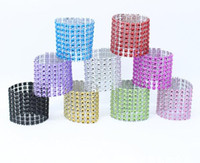 Wholesale Serviette Holders - 2016 Colorful Diamond Napkin Ring for Table Kitchen Serviette Holder Wedding Banquet Dinner Christmas Decor Favor