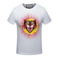 çok iyi toptan satış-g sonbahar kış kalitesi çok iyi hayvan baskı T-Shirt, high-end tasarımcı giyim, şekil mükemmel Medusa T-Shirt Asya kodu