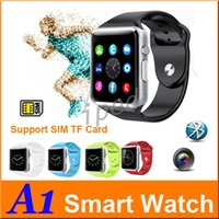 """Wholesale Cheapest Iphone Box - A1 Smartwatch Bluetooth Smart Watch Waterproof Smart Watch For Iphone Android Cell phone 1.54"""" SIM Card CAM with Retail Box Cheapest 50pcs"""