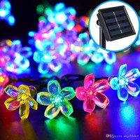 Lampada di energia solare principale luci decorative 7 metri 50 LED String of Peach Blossom per il giorno di Halloween Giorno di Natale New Year's Day Decoratio