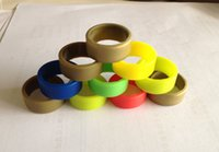 Wholesale Custom Rubber Mixing - Custom Silk Print Silicone Ring Silicone Vape Band Customize Colorful Rubber Ring