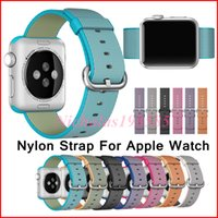 Mais novo para Apple Watch Band Strap Nylon Band Of Layers Bracelete de pulso Strap Loop Watchband Metal Classic Buckle Within Adaptadores One-piece