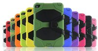 Wholesale Defenders Case Ipad - Defender shockproof Robot Case military Heavy Duty silicone cover with stand hoder ipad air 3 ipad 234 ipad mini mini4 for Samsung
