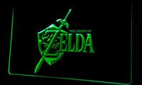 Wholesale Video Sign - Ls223-g Legend of Zelda Video Game Neon Light Sign