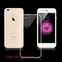Wholesale Transparent Cell Phones For Sale - Big Sale!0.3MM Clear Transparent Tpu Case For iPhone 7 6 6S Cell Phone Cases For iPhone 6S plus Ultrathin Apple iPhone Case Slim Soft cover