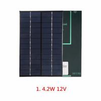 Wholesale 9v solar - 12V 4.2W Polycrystalline Solar Cell  Module Solar Panel For Charging 9V Battery System DIY Solar Charger 200*130*3MM 5pcs lot Free Shipping