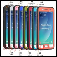Wholesale Screen Protect Galaxy - S7 Ultra thin Waterproof PET Case For Samsung Galaxy s6 S7 Edge IPhone 5 6 plus Full Body Screen protect Shock-proof Snow-proof