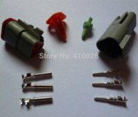 Wholesale Electrical Boat Motors - 0 sets Deutsch DT06-3S and DT04-3P 3Pin Engine Gearbox waterproof electrical connector for car,bus,motor,truck,boats,etc. waterproof elec...