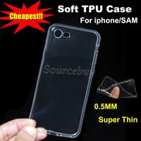 Wholesale Cheapest Iphone 5s - Phone Case For Apple Iphone 7 5S 6 6plus Samsung S7 Edge Note 5 A9 Clear Soft TPU Super ThinTransparent Cheapest Back Cover