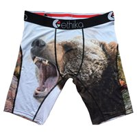 Wholesale Boxer Printing - Wholesale-Ethika Male Sports Short with Fierce Bear and Forest ! Mens Professional Brand Athletic Boxer Underwear ,Super Soft &
