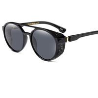 runder spiegel großhandel-2017 Retro Vintage-Mode Runde Sonnenbrille Für Frauen Kreis Geformt Reflektierende Spiegel Sonnenbrille Für Damen oculos feminino UV400 Y119