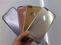 Wholesale Deluxe Ring Case - For Iphone 7 I7 7Plus 6 6S 4.7 5.5 Plus SE 5 5S Bling Metallic Electroplate Deluxe Plating Chromed Soft TPU Silicone Case Ring Skin